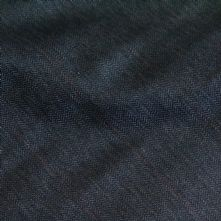 75% OFF Dark Grey Wool Suiting Fabric with a Fine Salmon Stripe